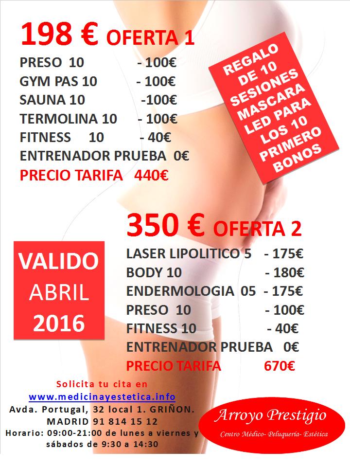 ofertas estética abril 2016