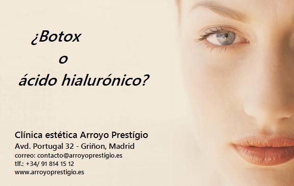 botox o ácido hialurónico