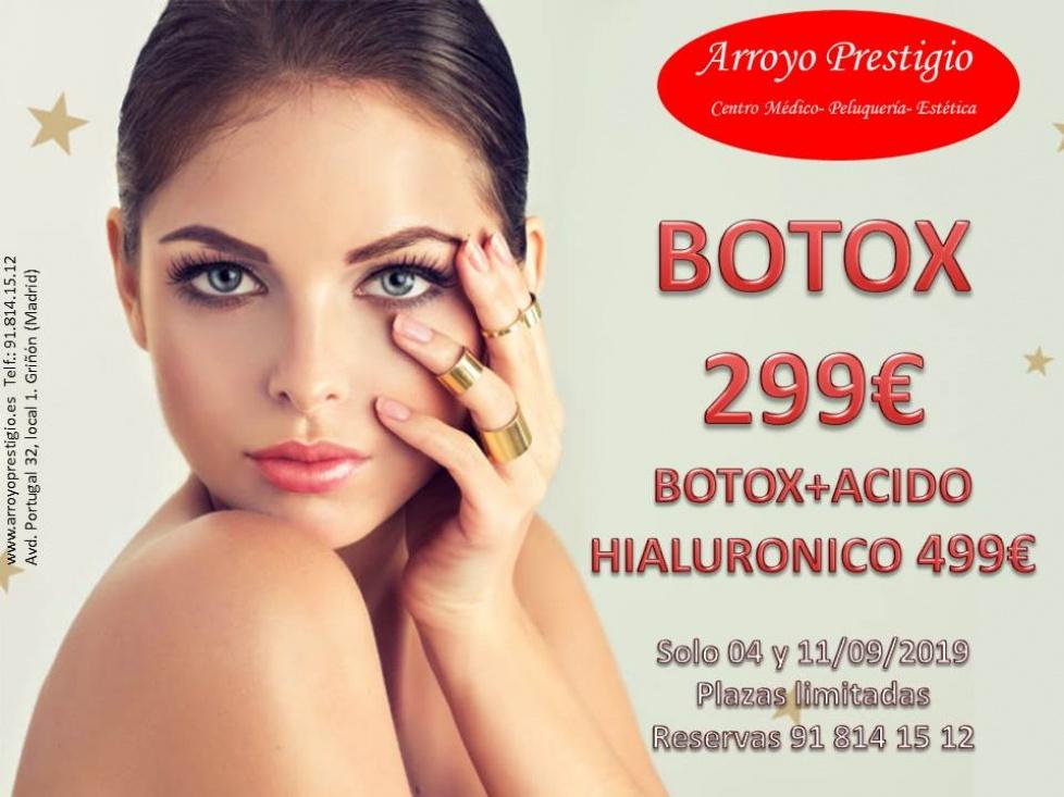 Oferta en Botox y Ácido hialurónico