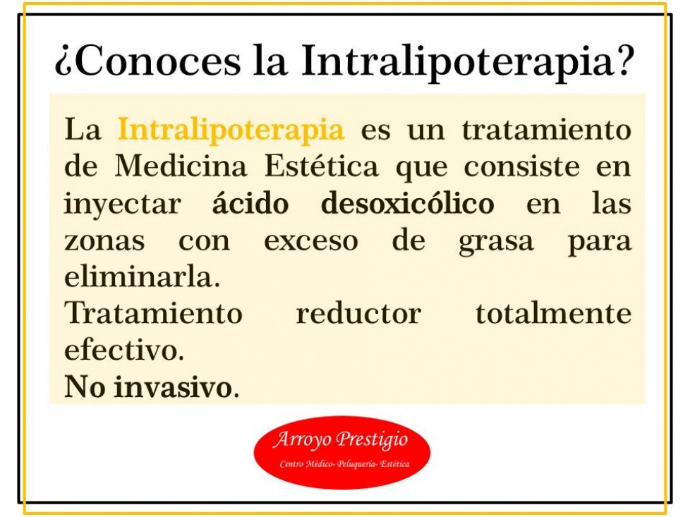 Conoce la intralipoterapia