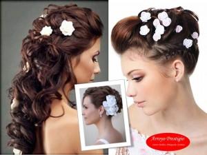 peinado flores